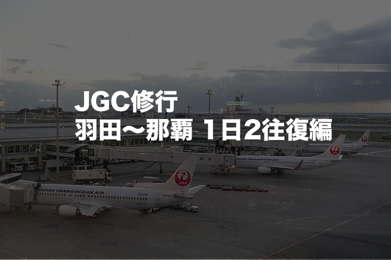 JGC修行 羽田〜沖縄(那覇) 1日2往復編。