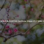 [レビュー] SONY a7Riii & CONTAX Carl Zeiss 50mm F1.7 MMJ